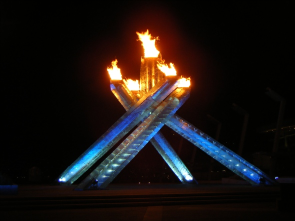 Vancouver 2010 - Olympic Cauldron at Night