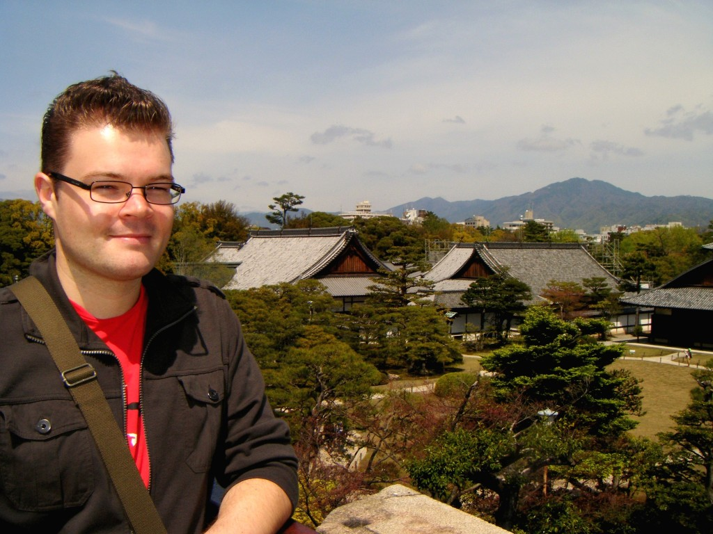 Me, Overlooking Nijo Castle