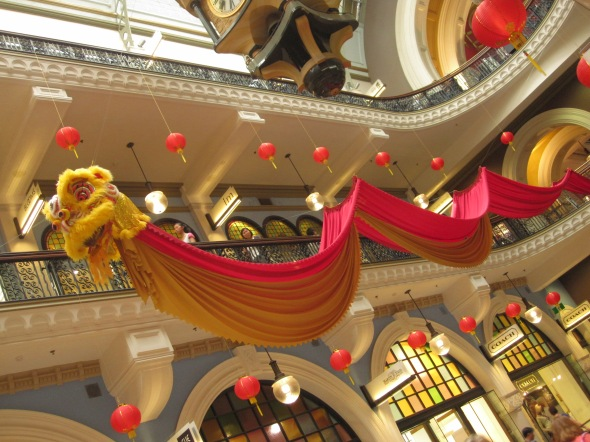 Year of the Dragon Decorations at the Queen Victoria Building in Sydney, Australia