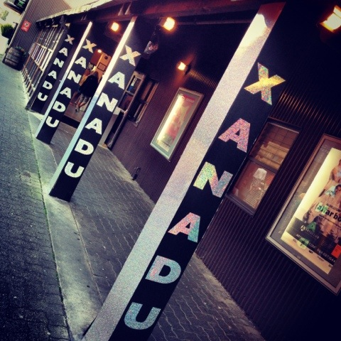XANADU Signs Lead the Way to the Entrance of the Granville Island Stage