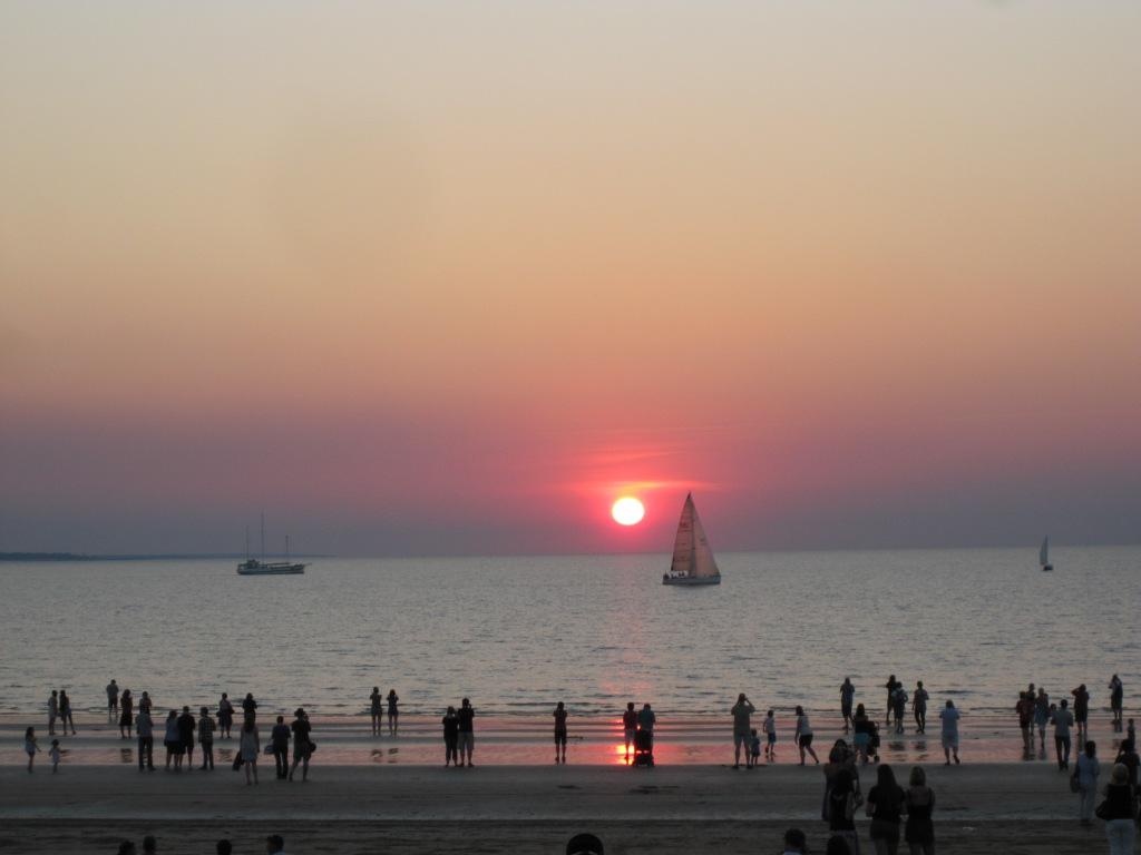 The Sun Setting at Mindil Beach, Darwin