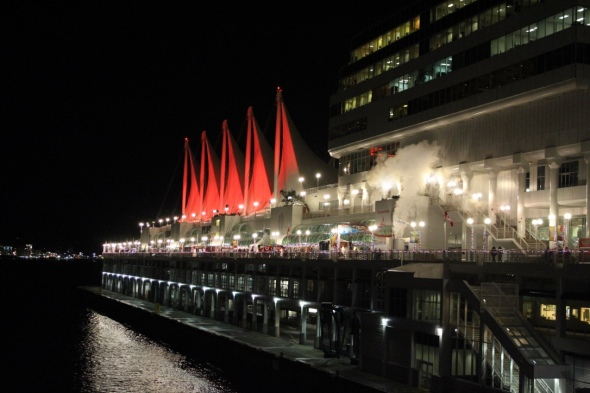 Canada Place at Christmastime