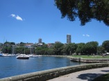 Rushcutters Bay sea wall