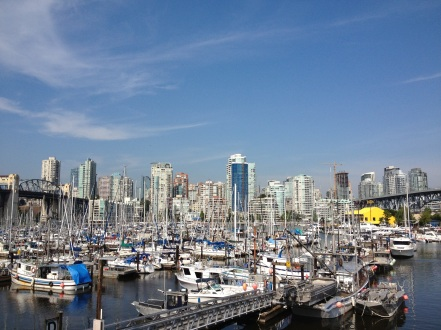 Marina Between Burrard and Granville Bridges
