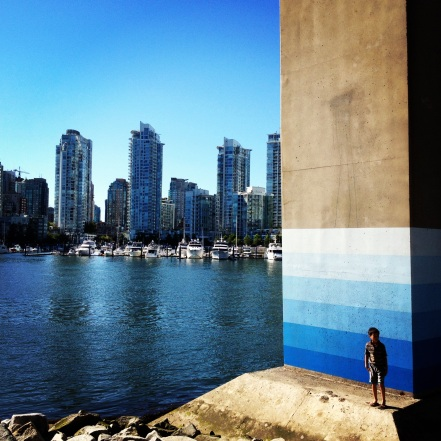 "Cambie Street Bridge ""Rising Tides"" Art"