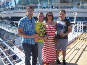 Me, Ryan, Chantelle and James on the Sapphire Princess