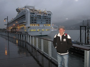 Ryan by our Ship in Juneau's Port