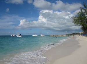 The Beach and Caribbean Sea in Providenciales