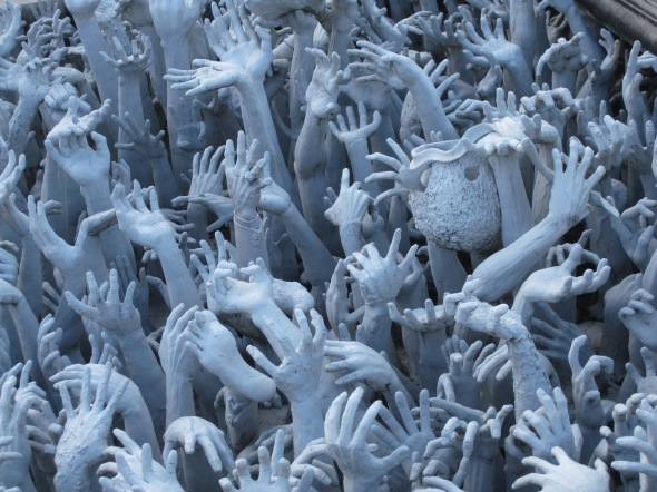 White Temple hands