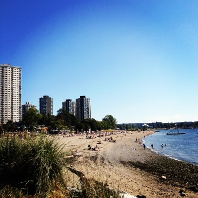 English Bay, on the Edge of Stanley Park
