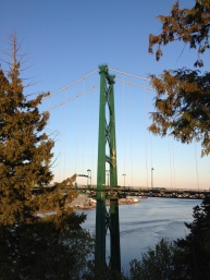 Prospect Point at Sunset, Looking at Lions Gate Bridge