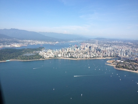 Stanley Park and Downtown, with North Shore in Background