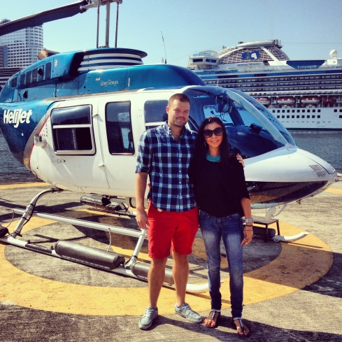 Me and my Friend Samantha, by our Helicopter