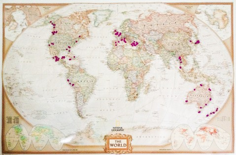 My New Map of the World, Showing the Places I Have Visited