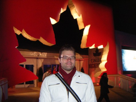 Me back in the Vancouver 2010 Winter olympics, outside of Canada House.