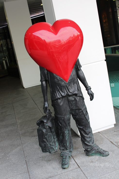 Heart Statue at The Mailbox, Birmingham
