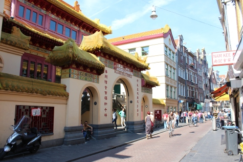 Amsterdam's small Chinatown, by the Red Light District
