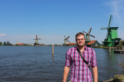 Me by the Windmills in Zaanse Schans, Netherlands