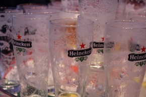 Beer-tasting at the Heineken Experience