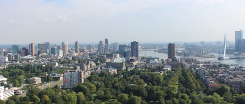 Rotterdam Seen From the Euromast Observation Deck