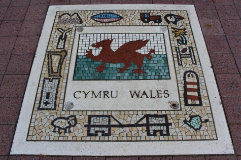 Mosaic Plaque Depicting Wales, Outside Millennium Stadium in Cardiff