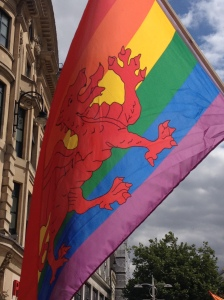 A Rainbow Welsh Flag
