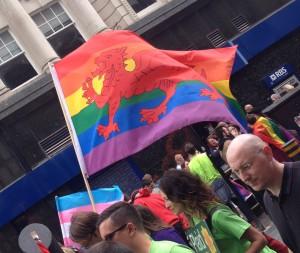 Pride Welsh Flag, Cymru Pride, August 2014