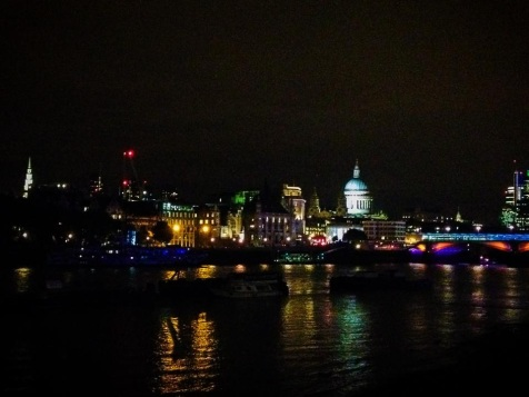 View of London City from South Bank (September 2014)