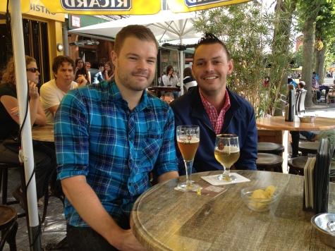 Having a Brugse Zot Beer in Bruges