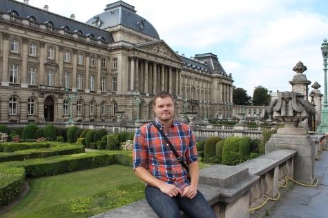 Me outside the Royal Palace