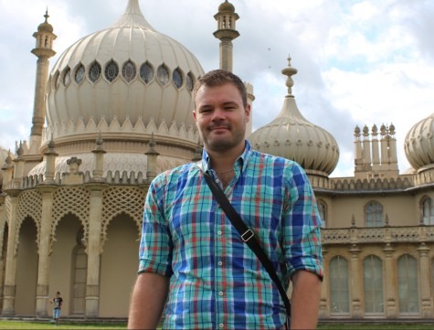 Me by the Brighton Royal Pavilion, August 2014