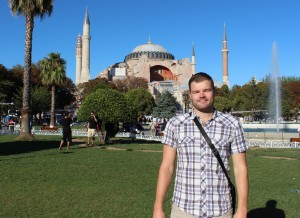 Me, by the Hagia Sophia in Istanbul, Turkey