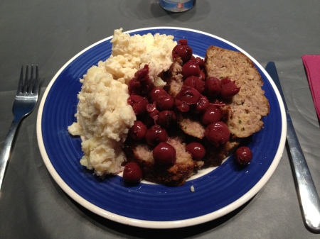 Meatloaf with Sour Cherries (& Mash)