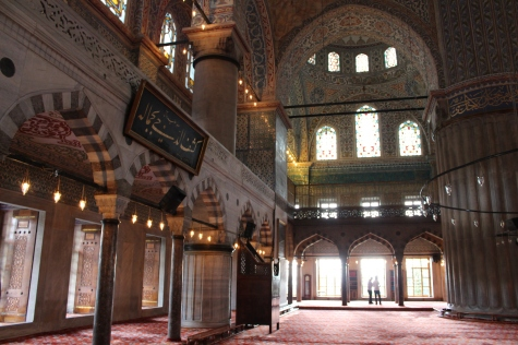 Main Chamber Inside the Blue Mosque