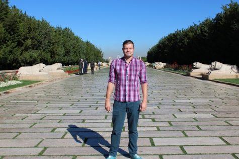 Me on the Road of Lions at Anitkabir