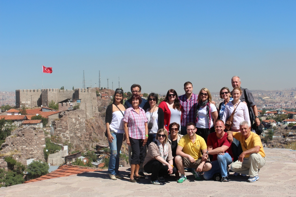 With Old and New Friends, Overlooking an Ankara Castle Tower