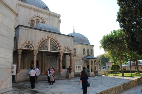 Outside of the Tombs of Hagia Sophia