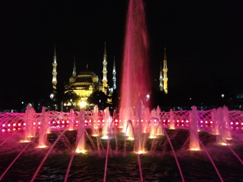 The Blue Mosque & Fountain at Night
