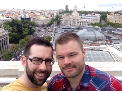 Eamonn & Me at the Rooftop of Circulo de Bellas Artes in madrid, Spain - April 2015