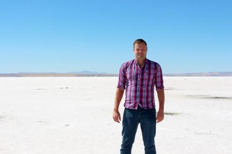 Me at the Salt Pan of Lake Tuz, Turkey