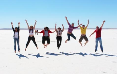 Jumping at the Salt Pan of Lake Tuz
