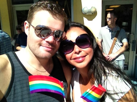With my Friend Sammy at Vancouver Pride, August 2012