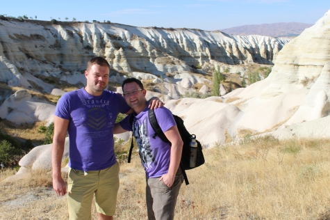 Me and Ryan Hiking Through the Cappadocia Valleys