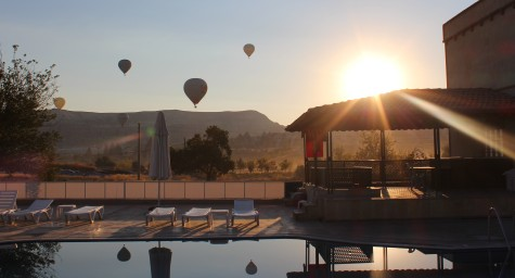 Sunrise at Our Hotel in Cappadocia