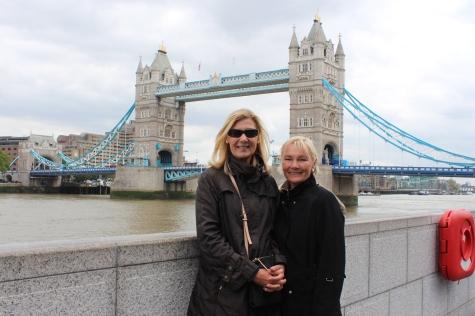 My Aunt Iriss & My Mom by Tower Bridge, London, June 2015