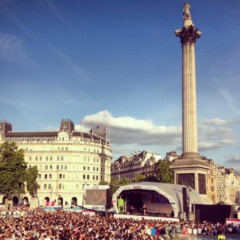 Trafalgar Square Pride in London