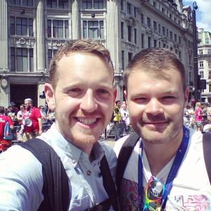 With Shane at Pride in London 2015