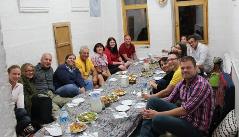Our Group Ready for a Home Cooked Meal with Our Hosts
