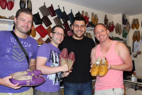 Me, Ryan & Tom with Mr Shoe-Seller Man (plus THE Shoes).
