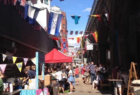 Maltby Street Market - sun